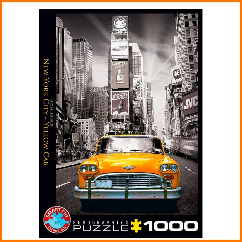 Puzzle Taxi Jaune New York - Yellow Cab - 1000 pièces - EuroGraphics