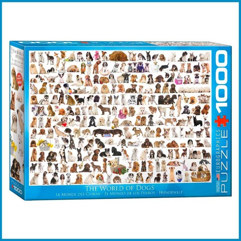 Puzzle 1000 pièces Le Monde des Chiens par EuroGraphics