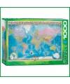 Puzzle 1000 pièces Carte du Monde par EuroGraphics