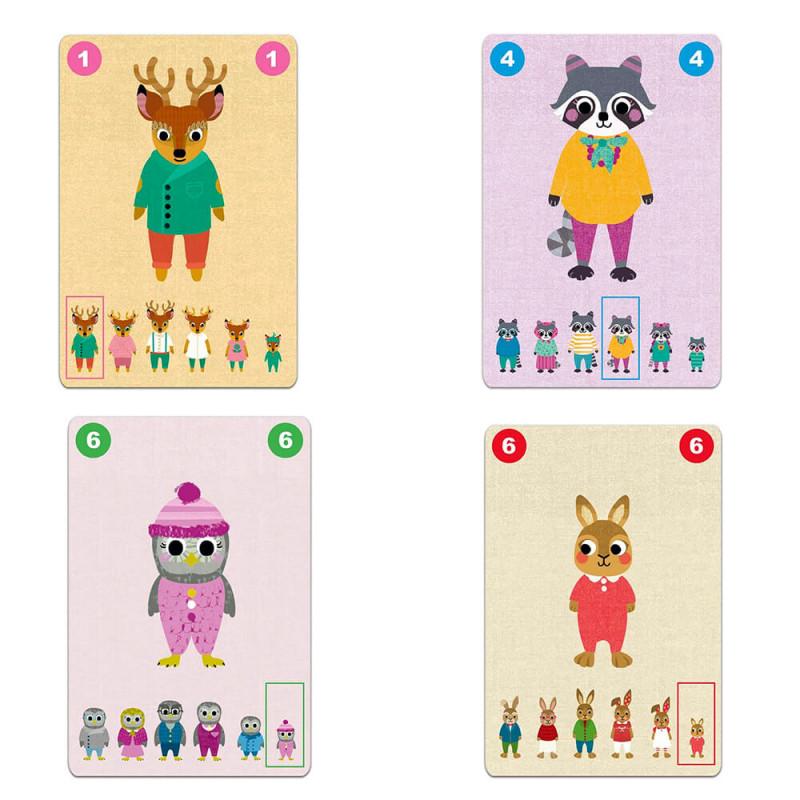 Les cartes du jeu des 7 familles de DJeco Familou