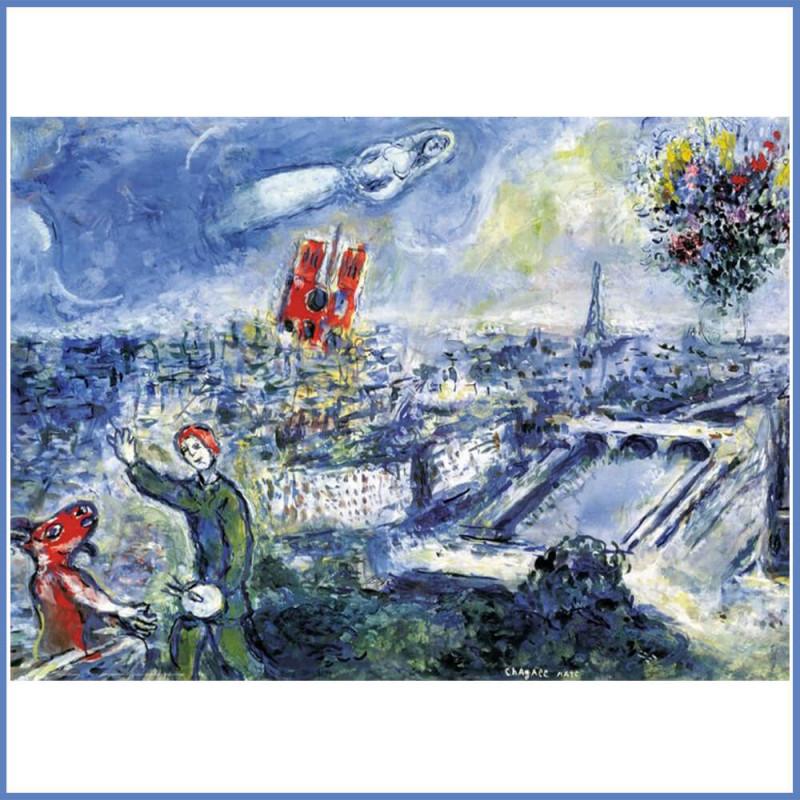 Puzzle 1000 pièces Marc Chagall Paris