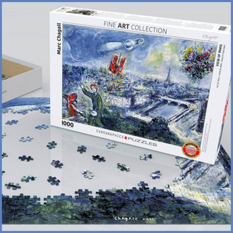 Puzzle adulte artiste peintre Vue de Paris