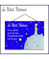 Le Petit Prince - Panneau en bois terre - Nuit étoilée