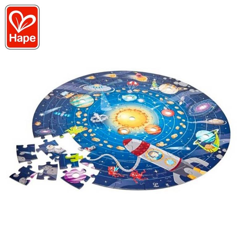 Puzzle du système solaire avec LED pour les enfants - 100 pièces