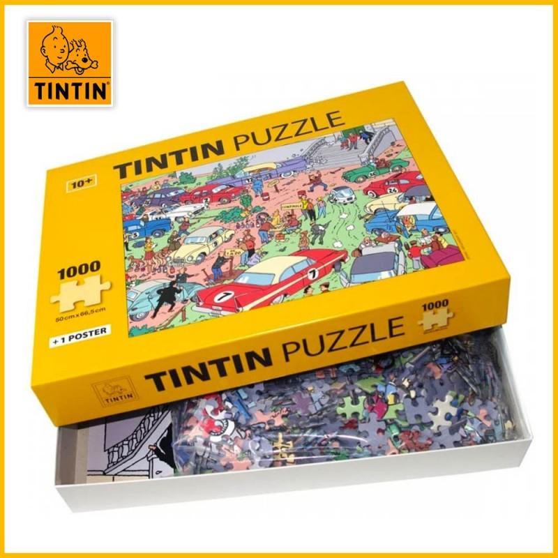 Puzzle Moulinsart Le Rallye Tintin 1000 pièces - Boite ouverte
