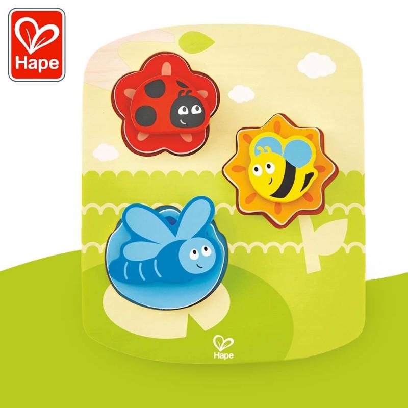Puzzle dynamique Insectes - Puzzle encastrement bois by Hape