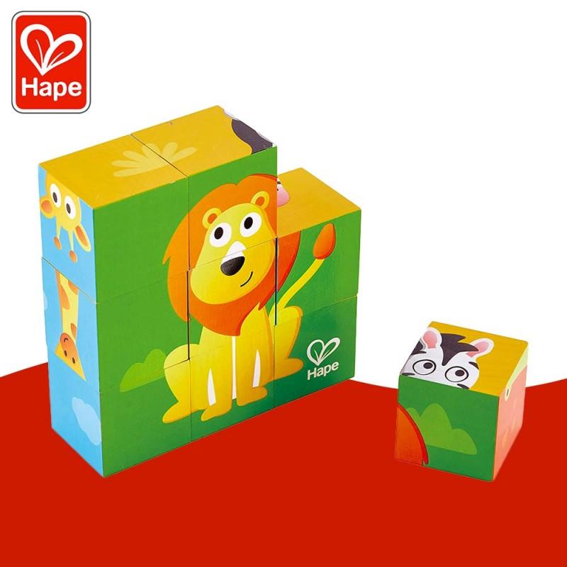 Puzzle Cubes Animaux de la Jungle - Puzzle en bois by Hape