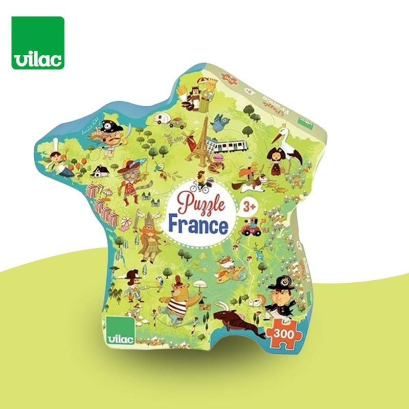 Puzzle Carte des Merveilles De France 300 Pièces by Vilac