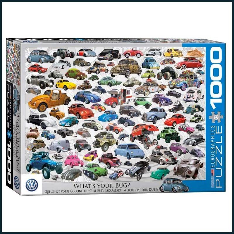 Puzzle Volkswagen Beetle - Quelle est votre Coccinelle ? - EuroGraphics 1000 pièces