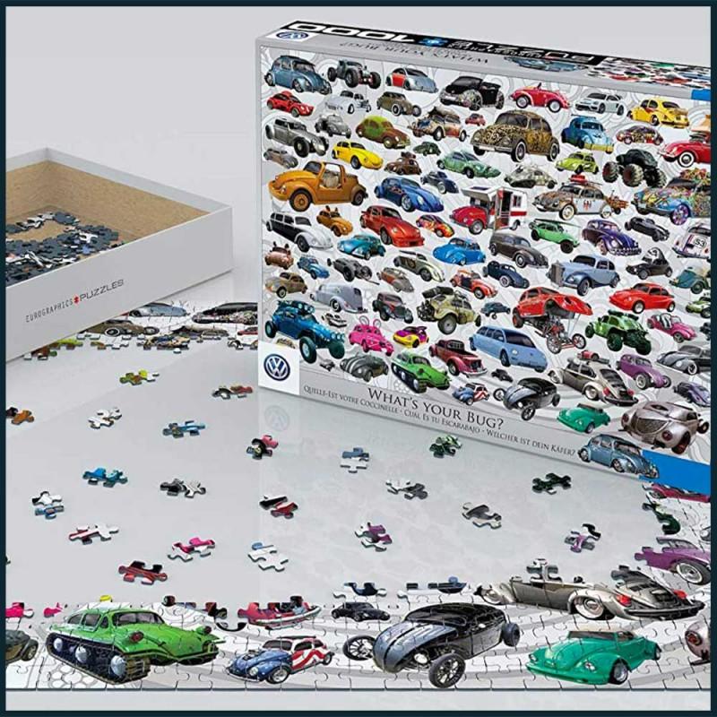 Puzzle Volkswagen Coccinelle de 1000 pièces - Quelle est votre Coccinelle ? by EuroGraphics