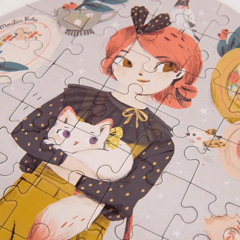 Puzzle Constance Les Parisiennes de Moulin Roty - Zoom puzzle