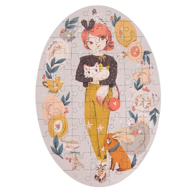 Puzzle Constance Les Parisiennes de 56 pièces fabriqué par Moulin Roty