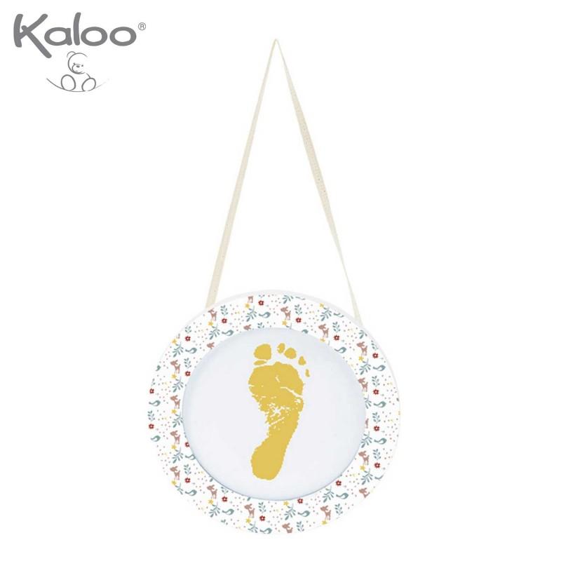 Ma première empreinte petit pied bébé à peindre par Kaloo