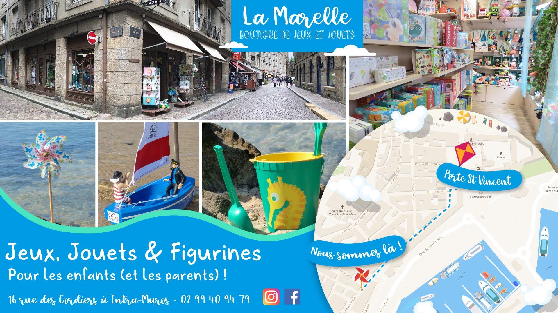 Boutique de jouets La Marelle à Saint-Malo