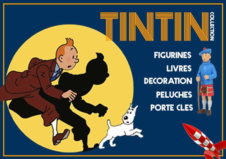 Achetez des figurines et objets de collection à l_JMSQUOTE2_effigie des aventures de Tintin