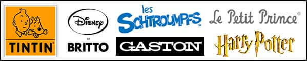 Figurines et objets de collection : Moulinsart, Britto, Gaston, Cartesdart, Schtroumpfs